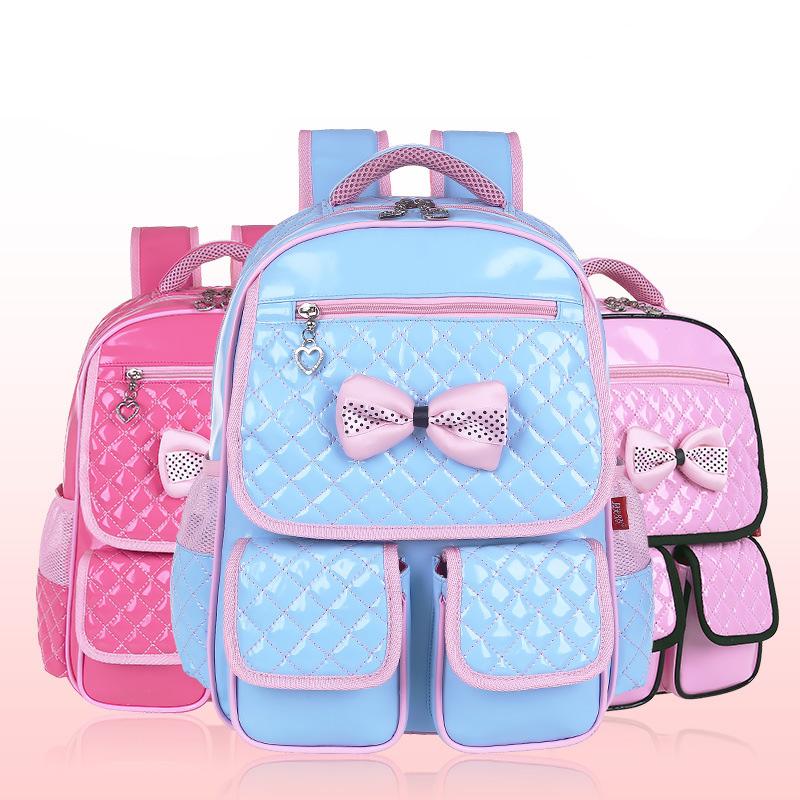 Unisex PU School Bag Backpack Primary Travel Bowtie Schoolbag Kids Children Back To School Boy Girl Shoulder Bag Pack 1PCS/lot<br><br>Aliexpress