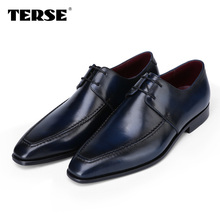TERSE_High Quality Shoes Luxury Brand Handmade Men Leather Shoes Men Dress Shoes Casual Fashion Flat Shoes Dropshipping OEM ODM(China (Mainland))