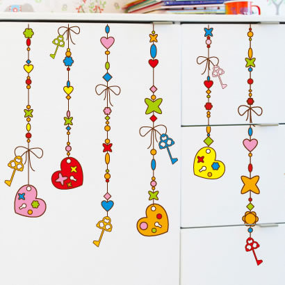 The third generation wall stickers wind chimes cartoon child real wall stickers romantic