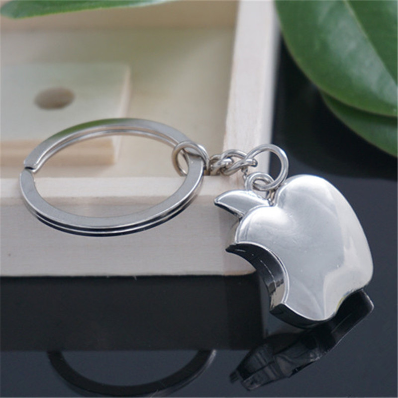 New Fashion Creative Mini Apple Keychain Popular Versatile Metal Key Ring Key Chain(China (Mainland))