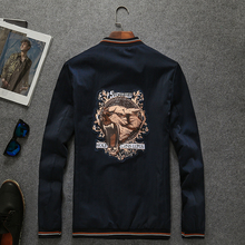 Luxury Printed Clothing 2016 fashion embroidery men's spring jackets hot sale baseball to collar jackets for men cotton man coat(China (Mainland))