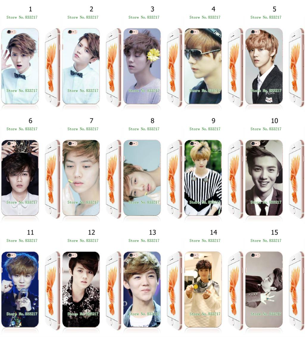 Mobile Phone Cases 2016 EXO Luhan Hybrid Design Plastic White Hard Case For iphone 6 6s Free Shipping(China (Mainland))