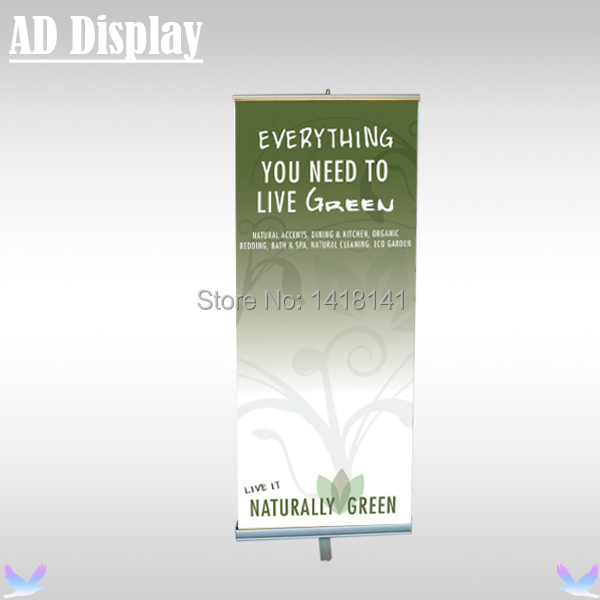 80*200cm 6PCS One Foot Aluminum Retractable Roll Up Banner Stand,Premium Pull Up Banner,Exhibition Portable Display Equipment(China (Mainland))