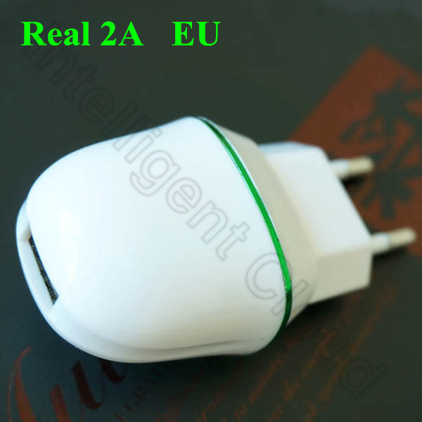Best Quality EU Real 2A Full 2A Cobblestone USB Travel Plug Power Adapter Wall Charger For iPhone 6 Samsung S6 LG G3 Free Ship(China (Mainland))