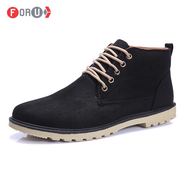 Новый 2015 осень весна мужской обуви качество свободного покроя высокого верха мода ...