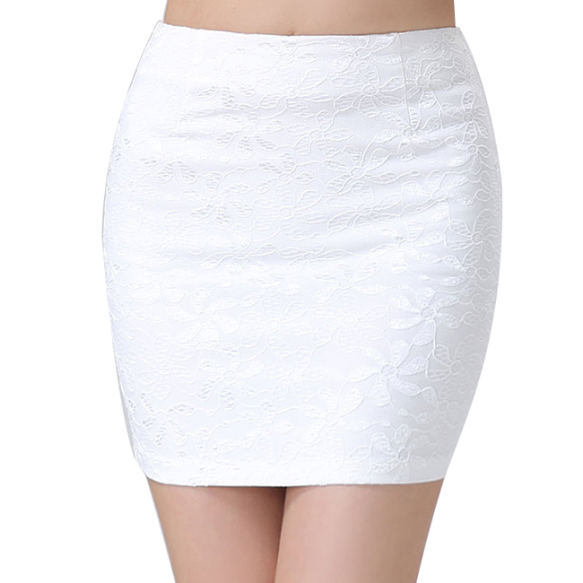1 Pc Summer Mini Lace Black White Pencil Skirt Sexy Women Stretch Tight Bodycon Tube Bandage H2125 pencil skirt american apparel(China (Mainland))