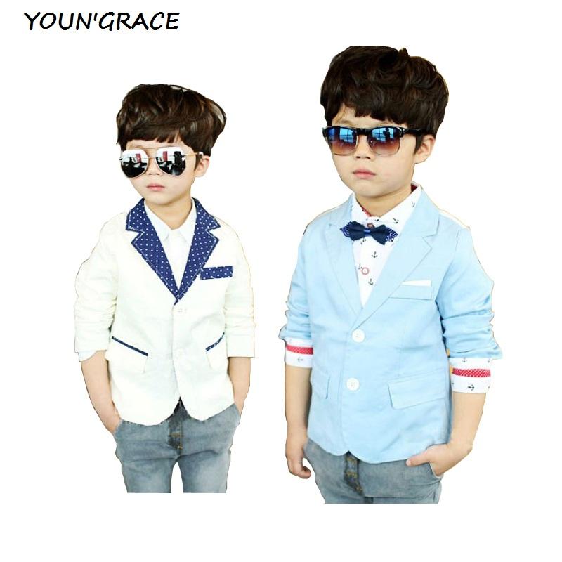 2016 New Design Kids Casual Suits Boys Korean Style Jackets Brand Children Polka Dot Wedding Blazers for Boys Formal Jacket,C179(China (Mainland))