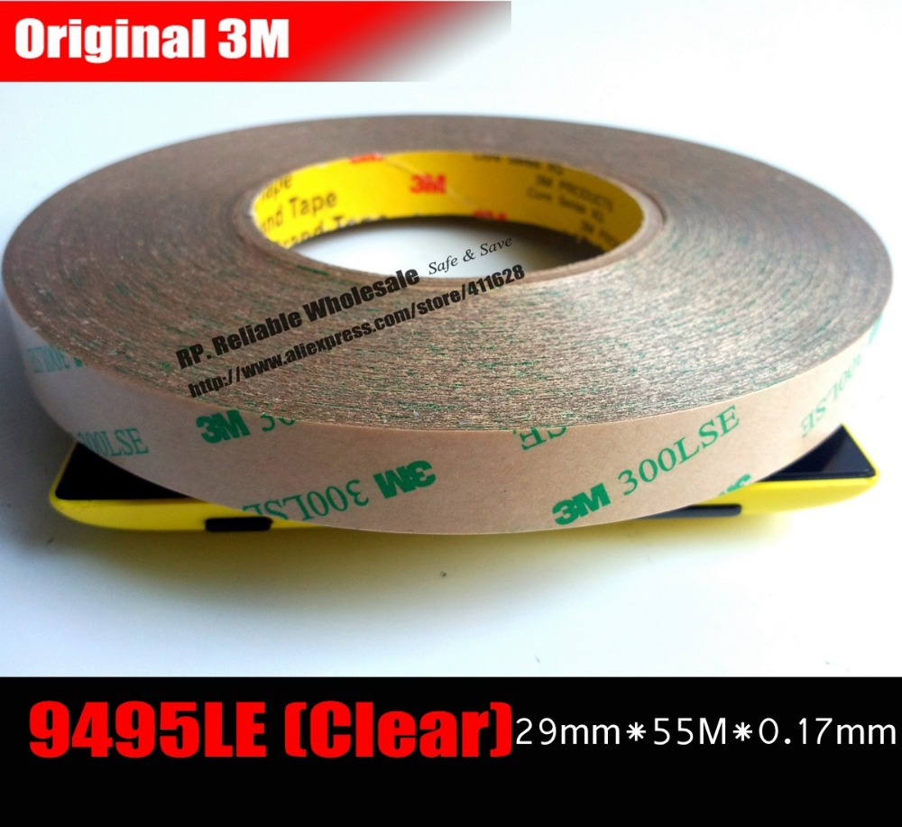 Фотография (29mm*55M*0.17mm) Universal Super Strong Adhension 3M 9495LE Sticky Tape for Cellphone GPS Tablet Mini Pad Touch Screen Fix