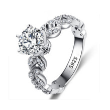 Wedding rings for women S925 white gold plated engagement CZ Diamond Jewelry luxury bague bijoux romantic accessories MSR097