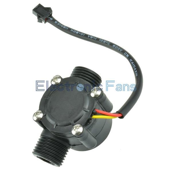 Гаджет  Water flow sensor flowmeter Hall flow sensor Water control 1-30L/min 2.0MPa None Электронные компоненты и материалы