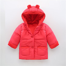 0-2 Years Fashion Baby Coat Cotton Thick Winter Warm Boy Clothes Infant Coats For Boys And Girls Toldder Jacket Baby-Snowsuit(China (Mainland))