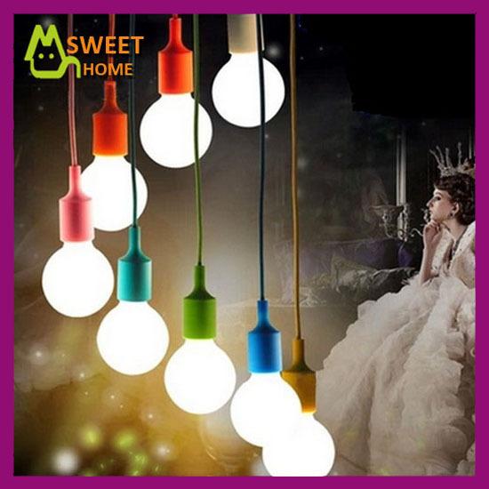 High quality Modern Silica Gel Hanging Pendant Lights E27 110V 220V pendant lamps for room/home decoration Lampara de silicona(China (Mainland))