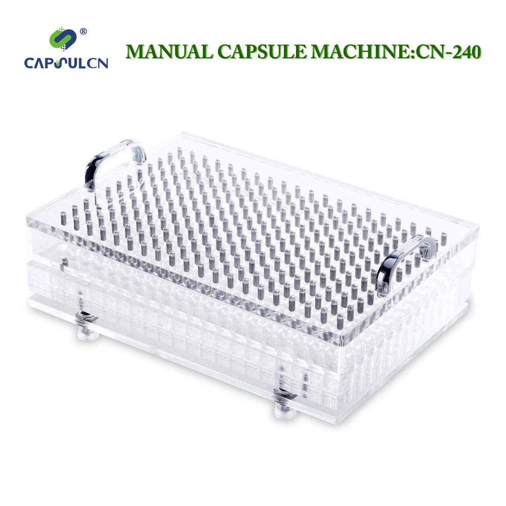 CapsulCN,Size 0 /240 Hole Manual capsule filler/Capsule Filling Machine/encapsulation Suit For Gelatin Empty Capsule(Hong Kong)