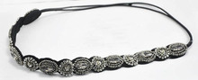 ethnic bohemia crystal rhinestone seed beads knitted braided headband brand design wedding bride bridal flower hair jewelry(China (Mainland))