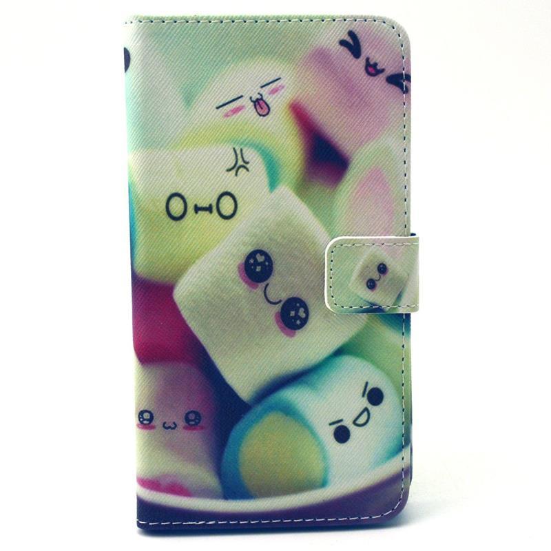 30 pcs/lot Retro Landscape Wallet Leather Case Card Slot Stand Samsung Galaxy E7