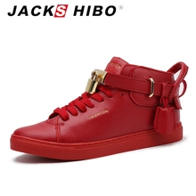 JACKSHIBO 2016 street corner Hip-hop shoes,light key locks red bottoms trend Flats shoes,high-top men casual shoes max size 9.5()