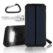 Solar Power Charger PowerGreen 15000mAh Solar Power Bank Mini Solar Panel for Cycling for Hiking for Travelling