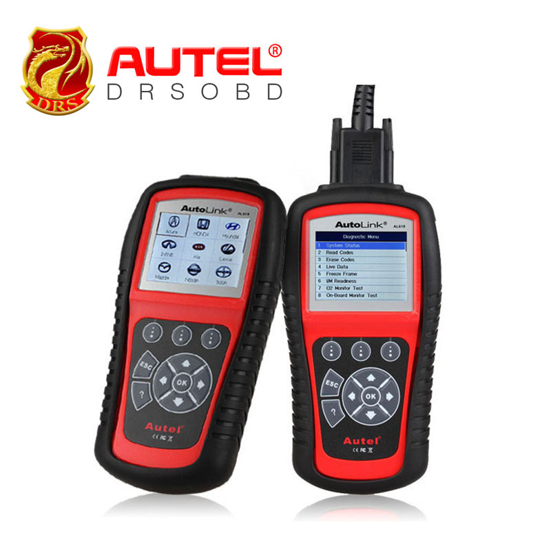 2016 New Autel AL619 ABS/SRS+OBDII CAN Atuo Code Reader Autolink Diagnoses/erases ABS/SRS codes Turn off Check Engine Light(China (Mainland))