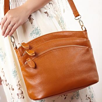Fashion 100% GENUINE LEATHER Bags Women  Crossbody Handbags 5 Colors Multi-Functional Messenger Bags*Free Shipping MB11