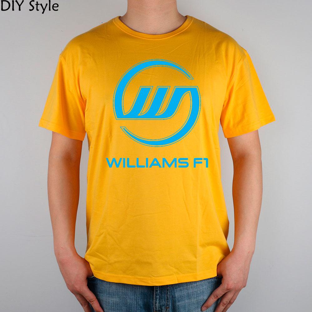 WILLIAMS TEAM F1 cotton Lycra top T-SHIRT Fashion Brand t shirt men new high quality(China (Mainland))