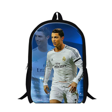 Hot Cristiano Ronaldo boys soccer backpacks for school,children's book bags fashion,mens back pack,elementary students cool bags(China (Mainland))