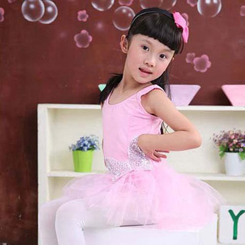 Cheap Discount Pretty Waist Edge Sequin Butterfly Pink Swan Tutu Dress Long Sleeve/Vest Ballerina Dress Kids Chiledren(China (Mainland))