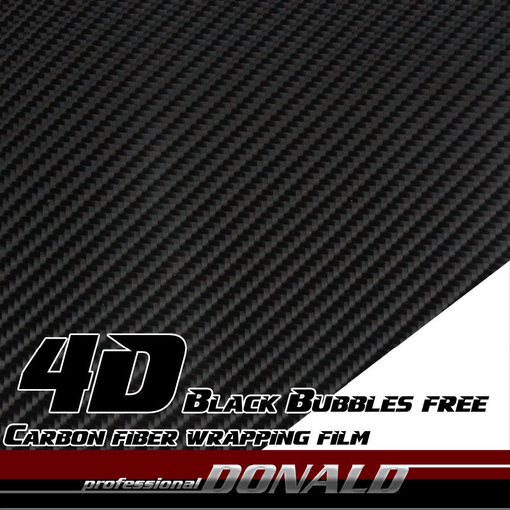 10Mx50cm 4D Carbon Fiber Vinyl PVC Film DIY Sticker Wrap Decal Air Release Black Styling For Car Truck Whole Body Flexible<br><br>Aliexpress