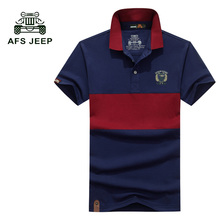 Buy AFS JEEP 2017 Summer Mens Fashion T Shirts Cotton Striped Brand Clothing Man's Short Sleeve T Shirts Male Casual Tops Tees 50z for $15.55 in AliExpress store