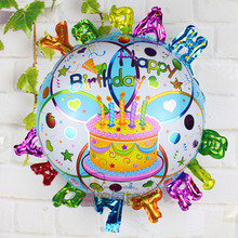 Buy 93*78cm 50pcs/lot shaped happy birthday cake foil balloons wedding party decoration helium globos balloon inflatable balls for $33.75 in AliExpress store