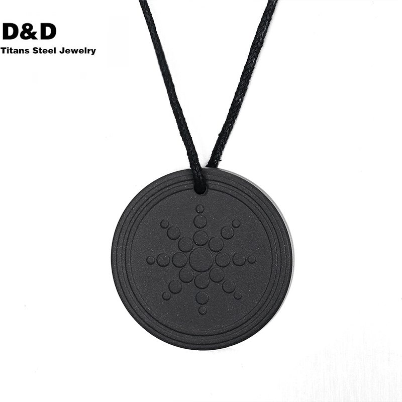 Quantum Scalar Energy Pendant 2000 ~ 3000 ions Energy Power Lava Jewelry PN-031(China (Mainland))