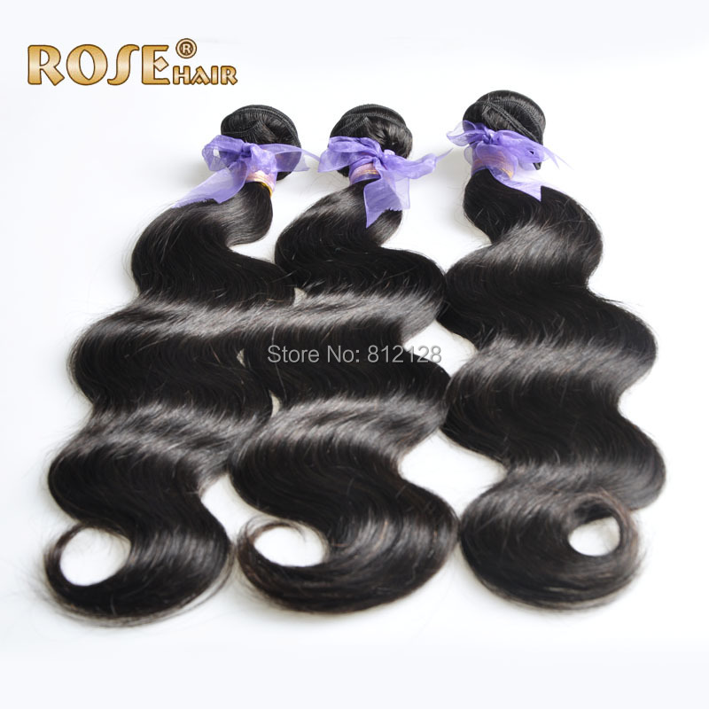 3pcs brazilian body wave natural black brazilian Hair weave Brazilian Virgin Hair extension 100% human hair DHL Free shipping(China (Mainland))