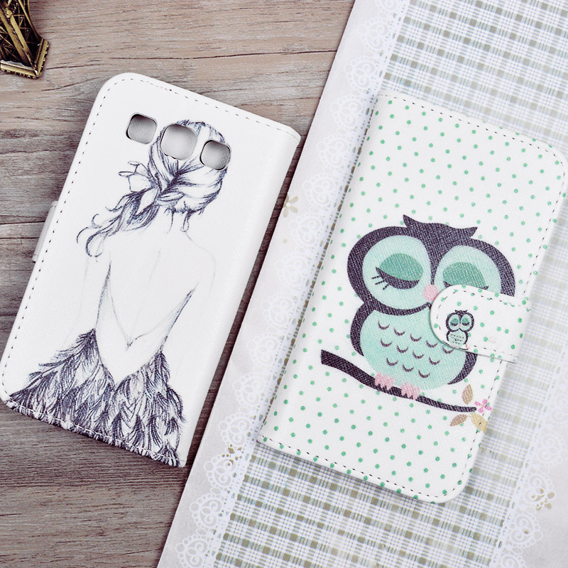 Printing Pattern PU Leather Flip Case Samsung Galaxy Win i8552 i8558 i8550 GT-i8552 Phone Cases Card Holder - J&R OfficialFlagship Store store