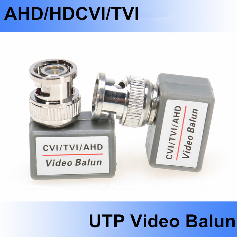 5 Pairs CCTV BNC Passive Video Balun Transceiver UTP Cable Coaxial Adapter For 200m Distance 720P/1080P AHD/HDCVI/TVI Camera DVR(China (Mainland))