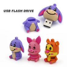 4GB 8GB 16GB 32GB Usb Flash Drive Pendrive Cute Neddy Animal U Disk Pen Drive lovely Donkey tigger memory stick flash card(China (Mainland))
