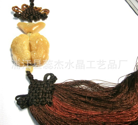 New special cheap wholesale luxury car accessories, car selling topaz agate pendant wishful brave(China (Mainland))