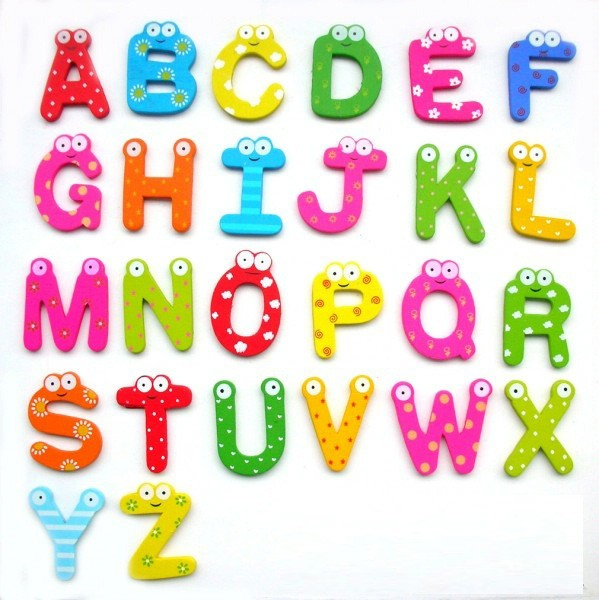 3D English Letters Magnet Wall Freezer Sticker Refrigerator Decorations Decor Room Kids Children Educational Teaching Toy 26pcs(China (Mainland))