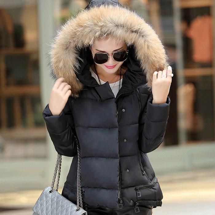 Short Parka With Fur Hood