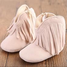 baby shoes girls shoes fashion tassel warm cotton baby boots girls soft sole baby girl shoes 0-1 years old toddler girl shoes(China (Mainland))