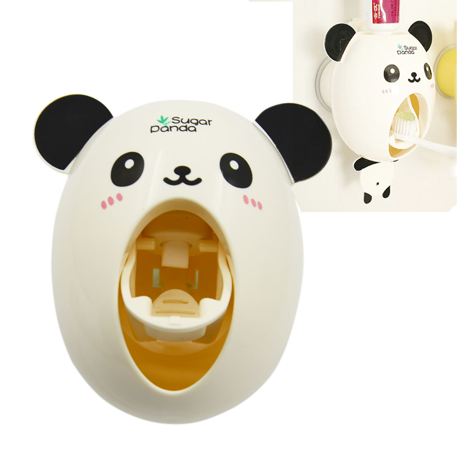 Cartoon Panda Automatic Toothpaste Squeezer Dispenser with Suction Cup Novelty Home Bathroom Accessories Gadget(China (Mainland))