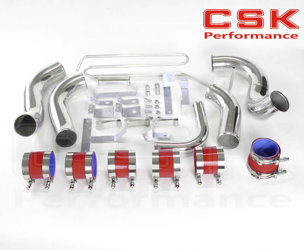 FIT:93 94 95 96 97 MAZDA RX7 FD3S FMIC FRONT MOUNT INTERCOOLER PIPING KIT RED