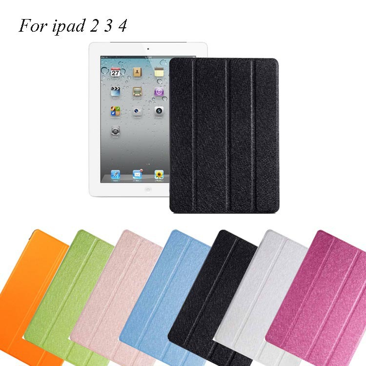 9.7 inch Fashion semitransparent Ultra-slim Leather Smart Cover tablet Case for iPad 2 3 4 accessories Spanish Russian Business(China (Mainland))