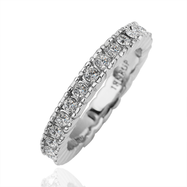 Hot Promotion Trendy 5 Pcs a lot Tin Alloy Women's Wedding Wear Exquisite White Crystal Circle Rings With Platinum Plated(China (Mainland))