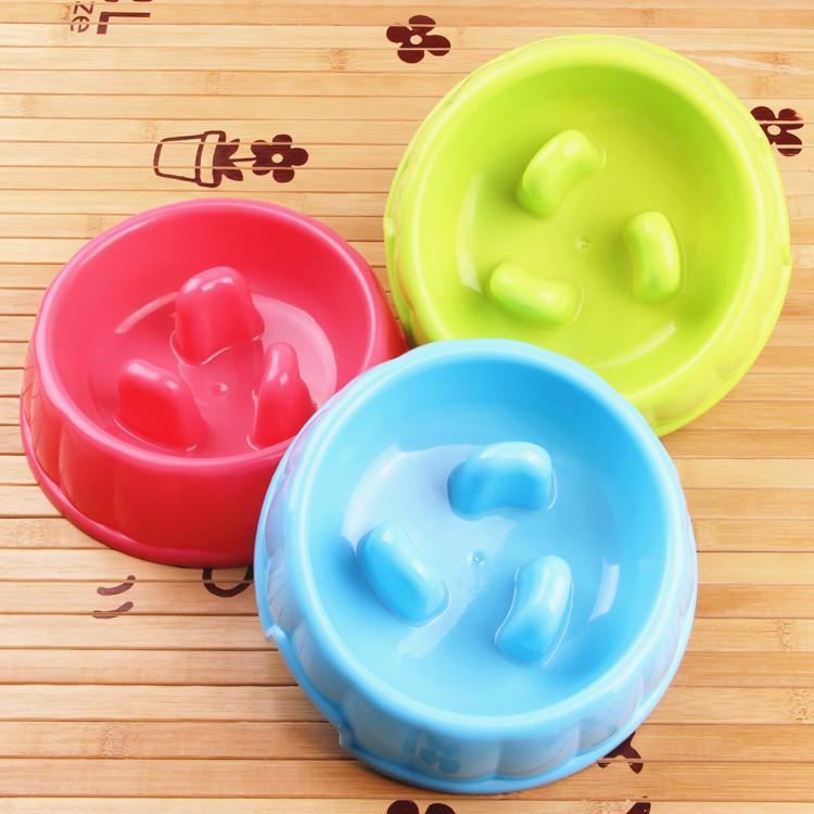 Anti Choke Pet Dog Cat Food or Drink Water Bowl Feed Food Bowl Slow Down Eating Feeder Dish Pet Products Free Shipping(China (Mainland))