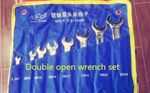 8 unids 5.5 – 24 mm doble , abierto wrench cromo acero fácil de llevar herramientas