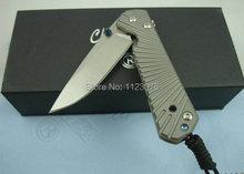 Caliente! alta calidad! aleación de titanio manejar No. 1 pequeño cuchillo plegable SVC10 cuchilla DREAM1103 bolsillo del cuchillo de caza herramientas de supervivencia