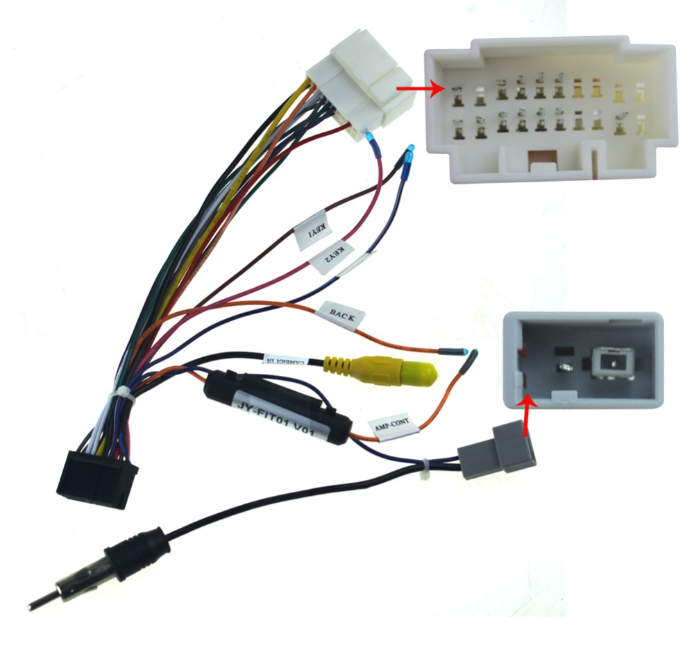 Mazda radio wiring harness female adapter plug to