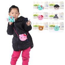 Hot!!! Baby Girls Mini Messenger Bag Cute Plush Cartoon Boys Small Coin Purses Children Handbags Kids Shoulder Bags(China (Mainland))