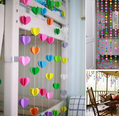 3D Lovely Heart Garland Ornaments Wall Curtain Piece Wedding Room Classroom Layout Wall Stickers Minnie Mouse Party Supplies(China (Mainland))