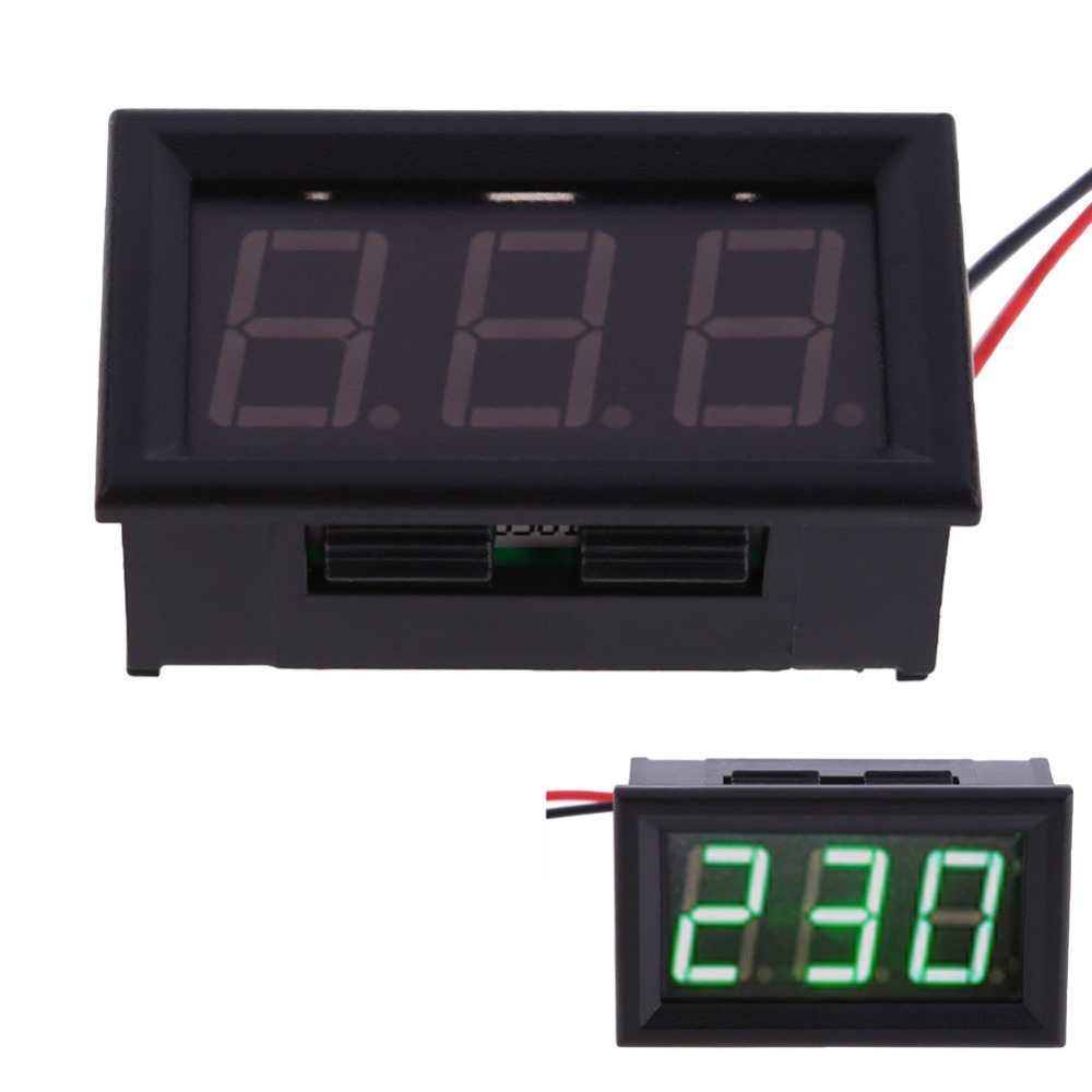 Гаджет  YB27A Green LED AC 60-500V Digital Voltmeter Voltage Display w/ 2 Wires hv5n None Инструменты
