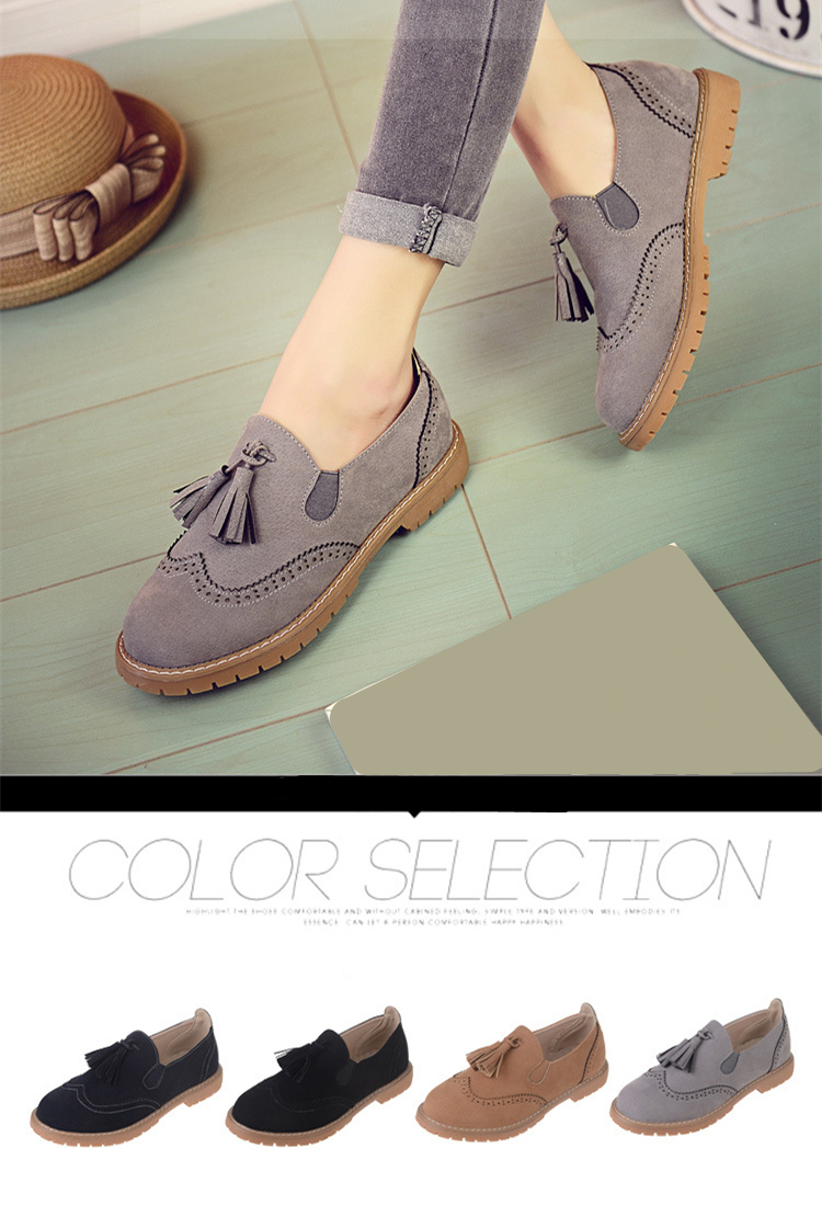 Colorful Tassel Loafers 2016 Casual Flats Shoes Woman Slip On Platform Moccasin Comfortanble Suede Women Shoes #HDS85